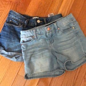 2pair denim jean shorts
